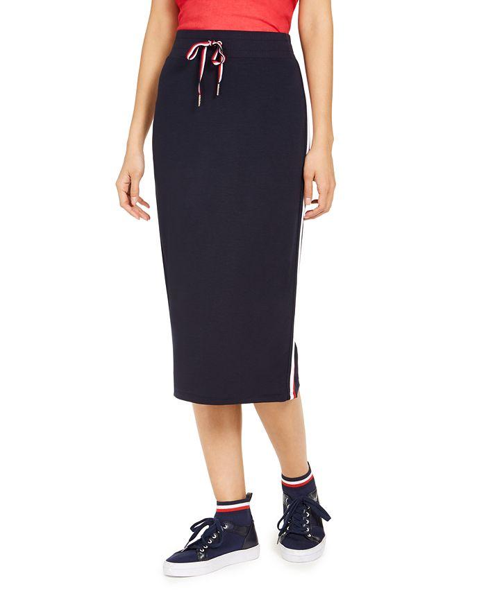 Tommy Hilfiger - Side-Stripe Midi Skirt