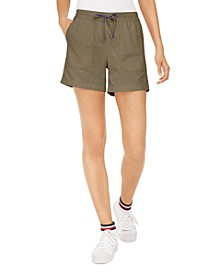 Pull-On Patch-Pocket Shorts