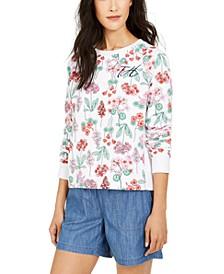 Floral-Print Sweatshirt