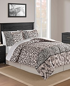 CLOSEOUT! Safari Blush 8-Pc. Full Comforter Set