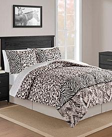 CLOSEOUT! Safari Blush 8-Pc. Full Comforter Set