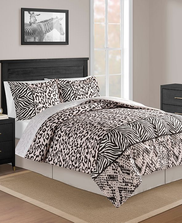 Fairfield Square Collection CLOSEOUT! Safari Blush 8-Pc. Full Comforter Set