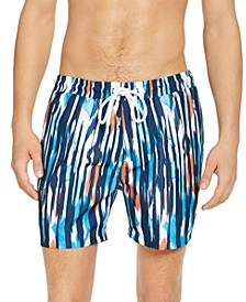"INC Men's Reid Ikat Print 5"" Swim Trunks, Created for Macy's"