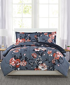 Manilla Floral Full/Queen 3-Pc. Comforter Set