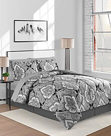 Gotham Reversible 8-Pc. Twin/Twin XL Comforter Set
