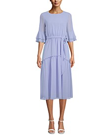 Ruffled A-Line Dress