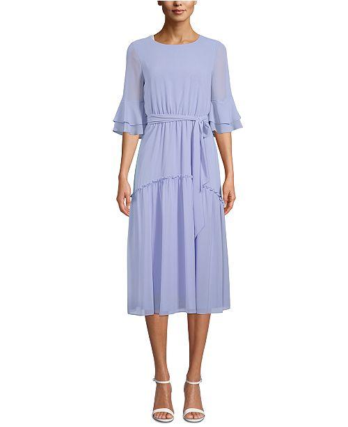 Anne Klein Ruffled A-Line Dress