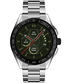 Connected Men's Stainless Steel Bracelet Smart Watch 45mm