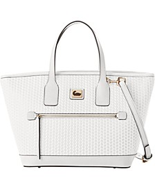 Camden Convertible Woven Leather Tote