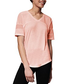 Mesh-Inset Active T-Shirt