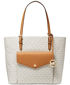 Jet Set Leather Logo Tote