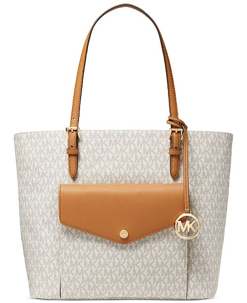 Michael Kors Jet Set Leather Logo Tote