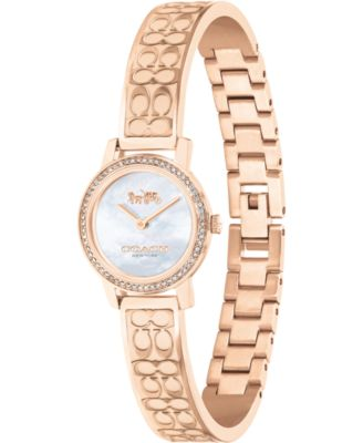 코치 여성 손목 시계 COACH Womens Audrey Rose Gold-Tone Stainless Steel Bracelet Watch 22mm,Silver
