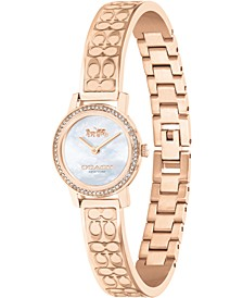 Women's Audrey Rose Gold-Tone Stainless Steel Bracelet Watch 22mm