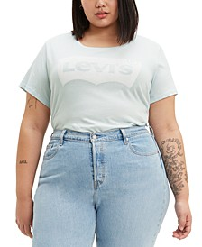 Trendy Plus Size  Batwing Plus Size Graphic Logo T-Shirt