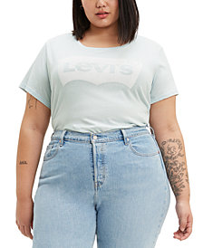 Levi's® Trendy Plus Size  Batwing Plus Size Graphic Logo T-Shirt