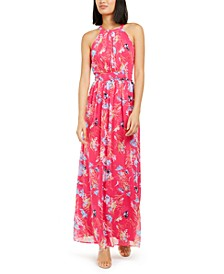 INC Floral-Print Pleated Maxi Dress, Created for Macy's