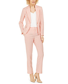 Le Suit One-Button Pants Suit