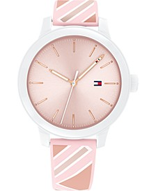 Women's Blush Silicone Strap Watch 38mm, Created for Macy's