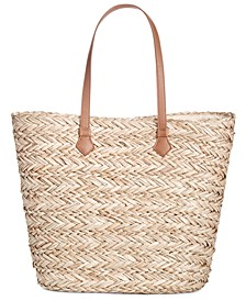 INC Lyllian Straw Tote, Created for Macy's