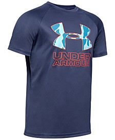 Big Boys Tech Hybrid Print Fill T-shirt