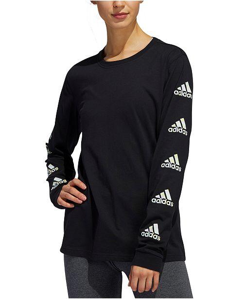 adidas Women's Logo Long-Sleeve T-Shirt