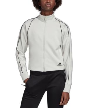 Adidas Originals Adidas Women's Lustrous Track Jacket In Orbit Grey