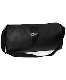 Receive a complimentary weekender bag with any large spray purchase from the Carolina Herrera Bad Boy Fragrance Collection
