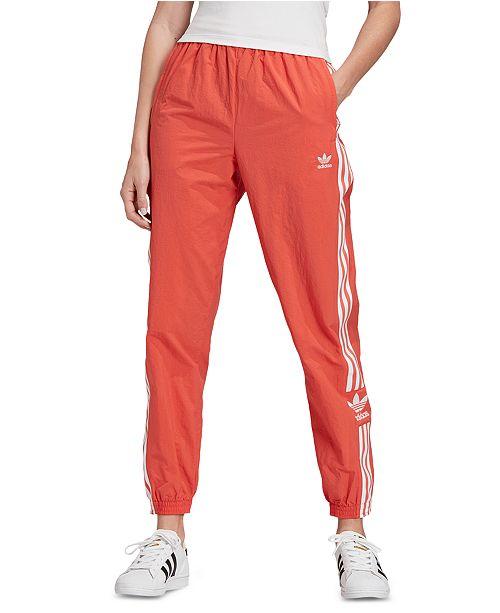 adidas pants orange stripes