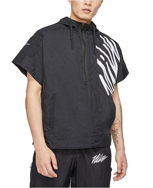 Nike Men's Short-Sleeve Half-Zip Training Hoodie