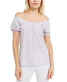 Sheared Jacquard Top