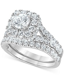 Diamond Halo Bridal Set (3 ct. t.w.) in 14k White or Yellow Gold