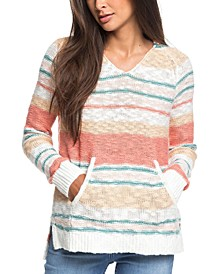 Juniors' Airport Vibes Cotton Striped Top