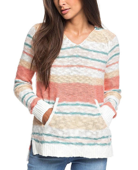 Roxy Juniors' Airport Vibes Cotton Striped Top