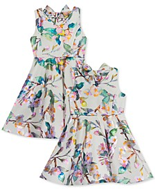 Toddler, Little & Big Girls Floral-Print Skater Dress