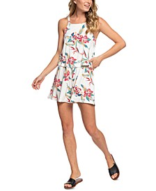 Juniors' Favorite Song 2 Floral-Print Romper