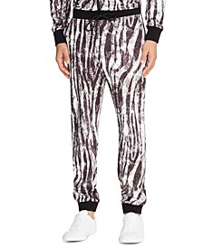 Men's Slim-Fit Stretch Zebra Print Joggers