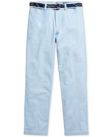Big Boys Belted Oxford Skinny Pants