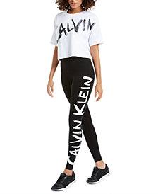 Calvin Klein Performance Brushed-Logo Top & Leggings