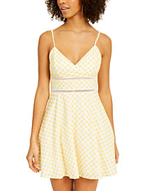Trixxi Juniors' Embroidered Fit & Flare Dress