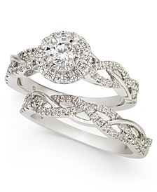 Diamond Braided Bridal Set (3/4 ct. t.w.) in 14k White Gold