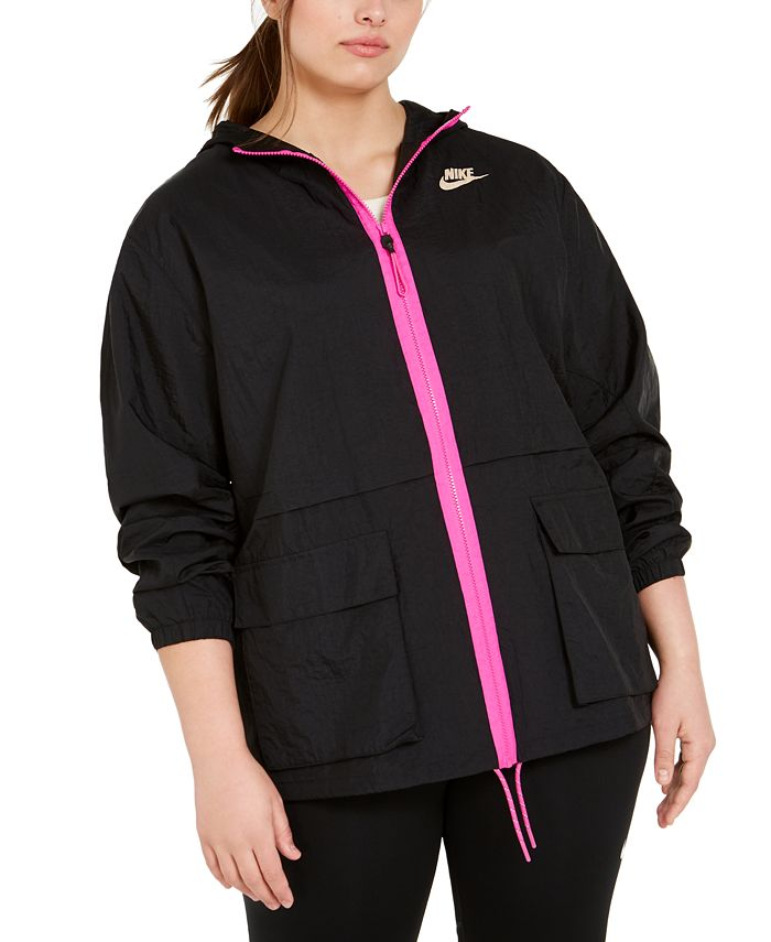Nike - Plus Size Hooded Zip-Front Jacket