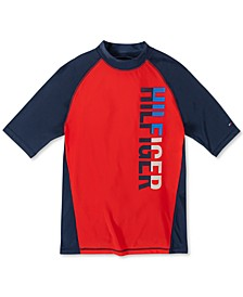 Big Boys Colorblocked Logo Rash Guard