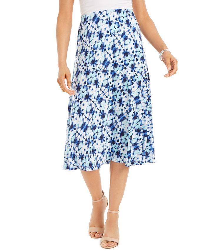 JM Collection - Printed Midi Skirt