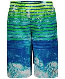 Big Boys Marble Stripe Swim Trunks