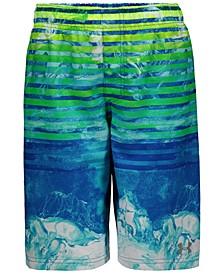 Big Boys Marble Stripe Swim Trunks