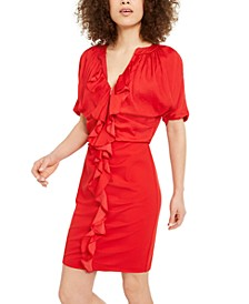 INC Ruffle Zip-Up Dress, Created for Macy's