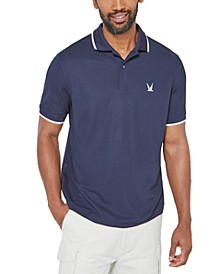 Men's Blue Sail Tipped Tech Polo, Created for Macy's