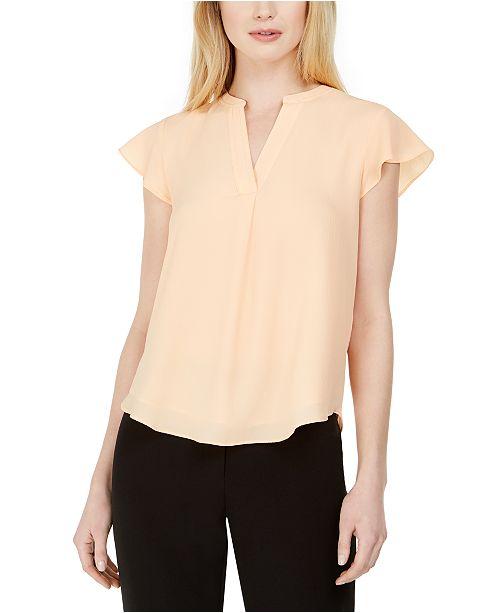 Calvin Klein Petite Cap-Sleeve Blouse