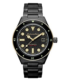 Men's Cahill Mid-Size Automatic Black Stainless Steel Bracelet Watch 40mm